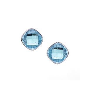 Sky Blue Topaz Earrings  in Sterling Silver 14.4cts