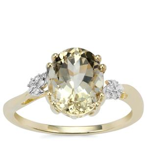 Serenite Ring with Diamond in 9K Gold 2.43cts