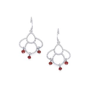 1.92ct Malagasy Ruby Sterling Silver Earrings (F)