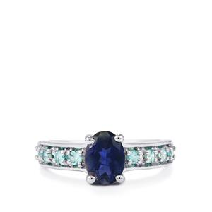 Bengal Iolite Ring with Blue Zircon in Sterling Silver 1.43cts