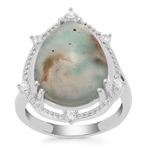 Aquaprase™ Ring with White Zircon in Sterling Silver 8.11cts