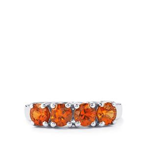 2.39ct Cognac Zircon Sterling Silver Ring