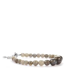 Labradorite Graduated Bracelet in Sterling Silver 73.45cts