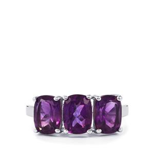 4.17ct Zambian Amethyst Sterling Silver Ring