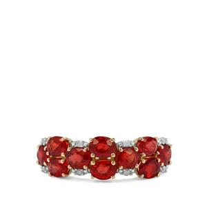 Songea Ruby & Diamond 9K Gold Ring ATGW 2.47cts