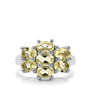 2.83ct Chartreuse Sanidine Sterling Silver Ring
