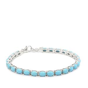 9.59ct Sleeping Beauty Turquoise Sterling Silver Bracelet