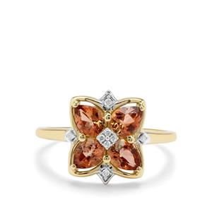 Sopa Andalusite & Diamond 9K Gold Ring ATGW 1.27cts