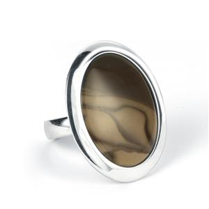 14.15ct Cappuccino Flint Sterling Silver Ring