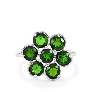 3.30ct Chrome Diopside Sterling Silver Ring