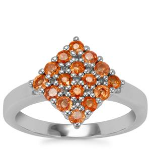Songea Sunset Sapphire Ring in Sterling Silver 1.13cts