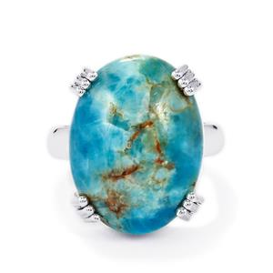 Fort-Dauphin Apatite Ring in Sterling Silver 20cts