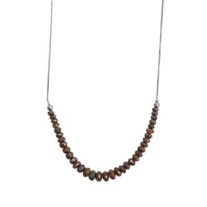 Boulder Opal Graduated Bead Slider Necklace in Sterling Silver