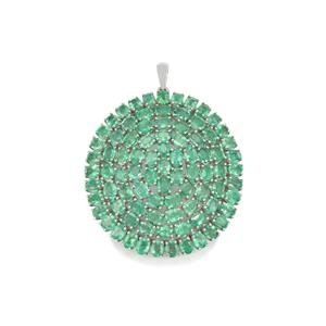 Zambian Emerald Pendant in Sterling Silver 14.10cts