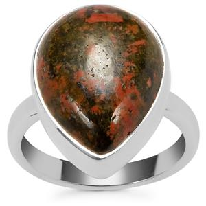 Unakite Ring in Sterling Silver 10.51cts