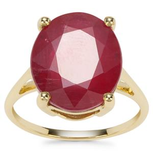 Malagasy Ruby Ring in 9K Gold 8.32cts (F)