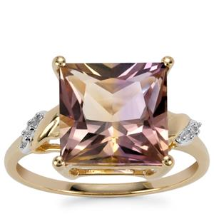 Anahi Ametrine Ring with Diamond in 10k Gold 4.61cts