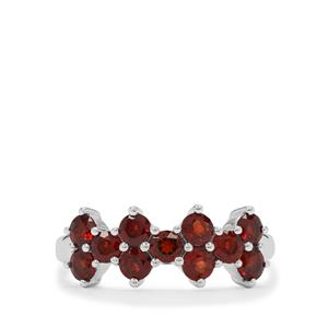 Rajasthan Garnet Ring in Sterling Silver 1.45cts