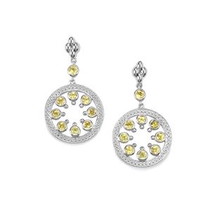 1.37ct Ambilobe Sphene Sterling Silver Earrings