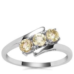 Merelani Danburite Ring in 9k White Gold 0.57ct