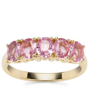 Sakaraha Pink Sapphire Ring in 9K Gold 1.96cts