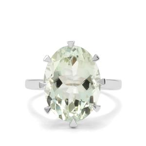 8.24ct Prasiolite Sterling Silver Ring