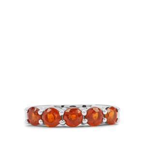 1.79ct Loliondo Orange Kyanite Platinum Plated Sterling Silver Ring