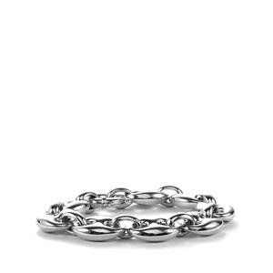 Rhodium Plated Sterling Silver Altro Bracelet 36.12g