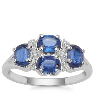 Nilamani Ring with White Zircon in Sterling Silver 1.91cts