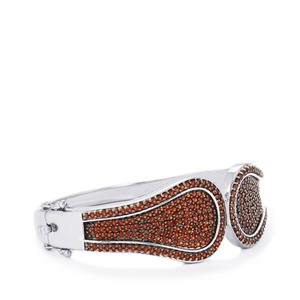 Anthill Garnet Oval Bangle in Sterling Silver 6.32cts