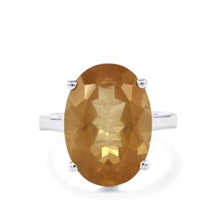 11.16ct Guyang Sunstone Sterling Silver Ring
