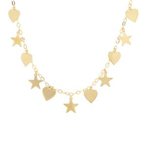 "18"" Midas Altro Star-Heart Necklace 3.87g"