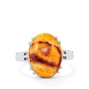 7.64ct Klamath Jasper Sterling Silver Ring