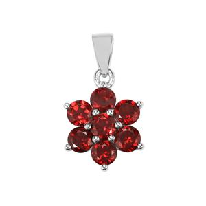 Rajasthan Garnet Pendant in Sterling Silver 2.38cts