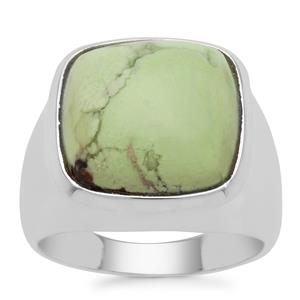 Queensland Chrysoprase Ring in Sterling Silver 11cts