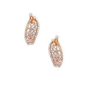 Diamond Earrings in Gold Plated Sterling Silver 0.73ct