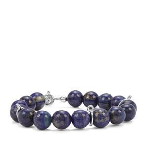 69.53ct Lapis Lazuli Sterling Silver Bead Watch Bracelet