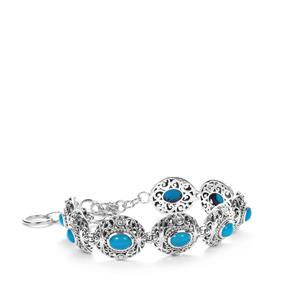 Samuel B Sleeping Beauty Turquoise Bracelet  in Sterling Silver 4.8cts
