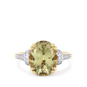Csarite® & Diamond 18K Gold Lorique Ring MTGW 5.66cts