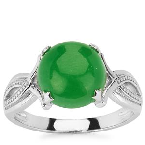 4.75ct Green Jade Sterling Silver Ring