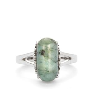 Santa Terezinha Emerald Ring in Sterling Silver 6.05cts