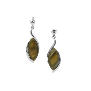 Imperial Chalcedony Earrings in Sterling Silver 7.24cts