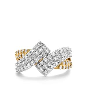 1ct Diamond 18K Gold & Platinum 950 Tomas Rae Ring