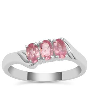 Mozambique Pink Spinel Ring  in Sterling Silver 0.75ct