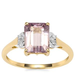Mawi Kunzite Ring with Diamond in 10K Gold 2.43cts
