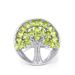 4.12ct Hunan Peridot Sterling Silver Ring