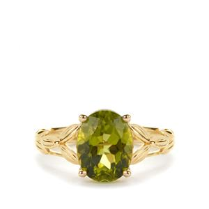 Red Dragon Peridot Ring in 9K Gold 3.07cts