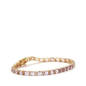 Ametista Amethyst Bracelet in Gold Plated Sterling Silver 12cts
