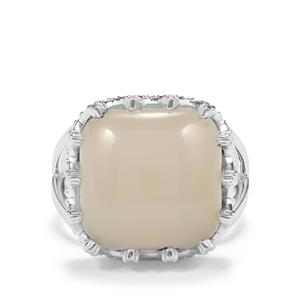9.80ct White Moonstone Sterling Silver Ring