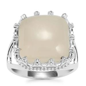 White Moonstone Ring in Sterling Silver 9.80cts
